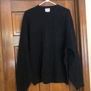 Deep charcoal J Crew XL sweater lambs wool